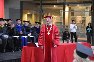 President Richard Rush at the Honors Convocation held in the Broome Library Plaza | by California State University Channel Islands