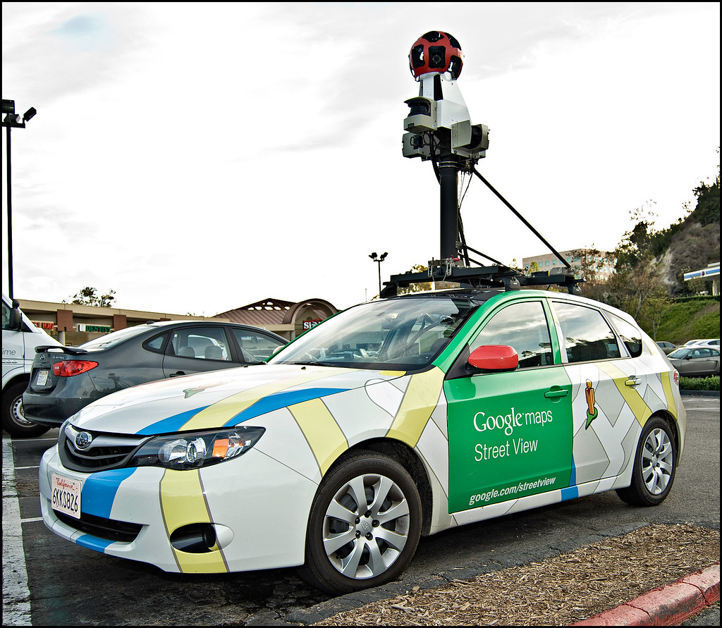 Google Maps Car Street View Bumped Into The Google