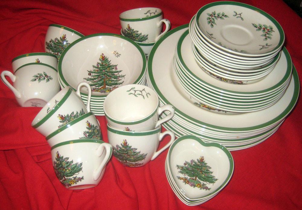 spode christmas tree dishes on ebay by janelafazio