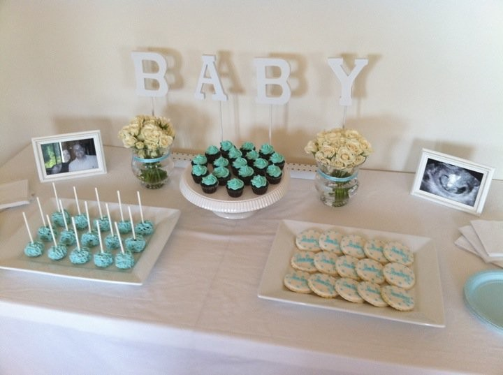 baby shower dessert table boy thecupcaketable flickr