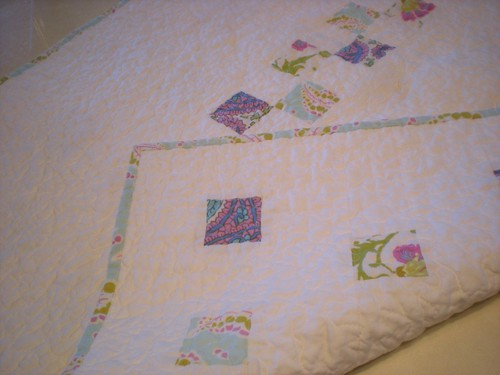small squares back and binding | by Erin @ Why Not Sew? Quilts