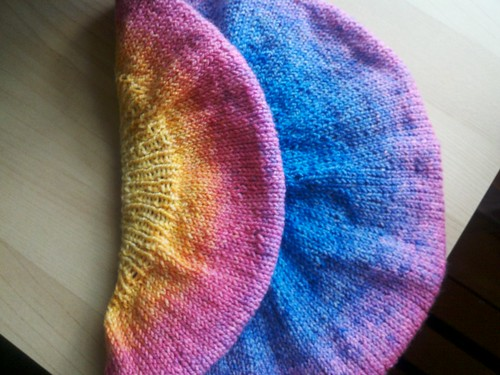 Purl Beret Knitting Pattern : Evening solitude beret, folded Pattern: Purl Beret by ...
