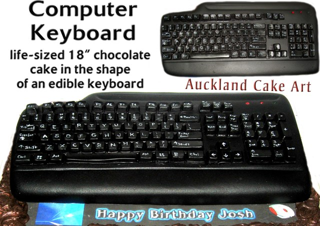 Life Size Chocolate Computer Keyboad Birthday Cake Flickr
