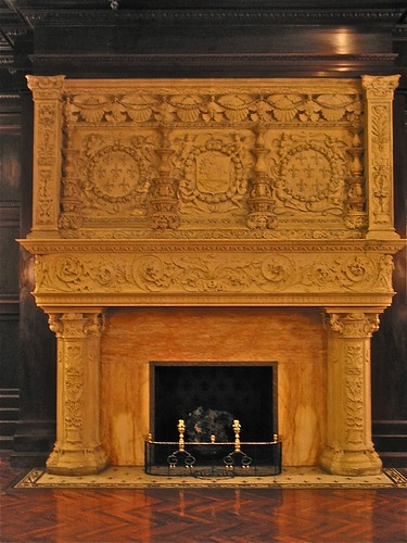 Grey Towers Castle (1893) – carved marble fireplace | Flickr