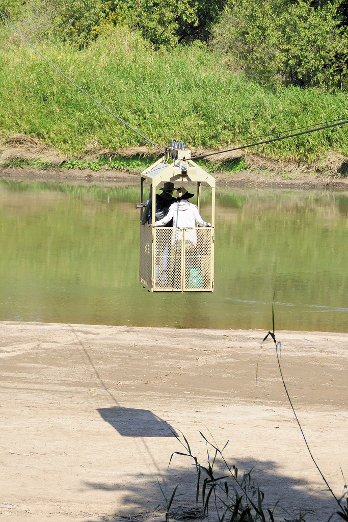 Pont Drift Cable Car Limpopo River Crossing Taken At