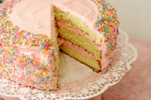 Old Fashioned Bakery Birthday Cake