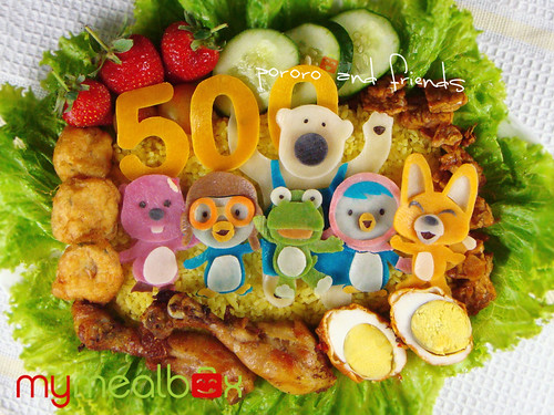 Pororo and friends bento | by mymealbox
