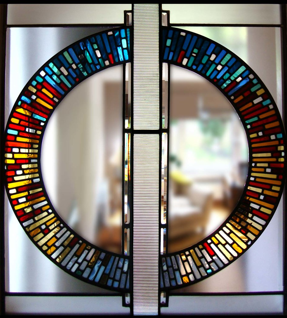 25 Modern Ideas To Use Stained Glass Designs For Home: Contemporary Circular Stained Glass Modern Glasgow