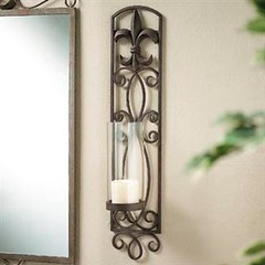 Fleur De Lis Candle Holder Wall Sconce 110 851 Wall Scon Flickr