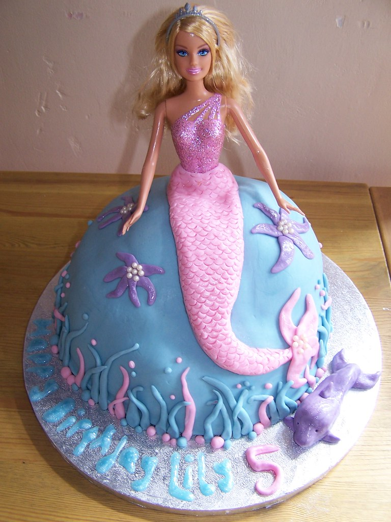Images Of Barbie Birthday Cake : Mermaid Barbie Cake Birthday cake decorated as a ...