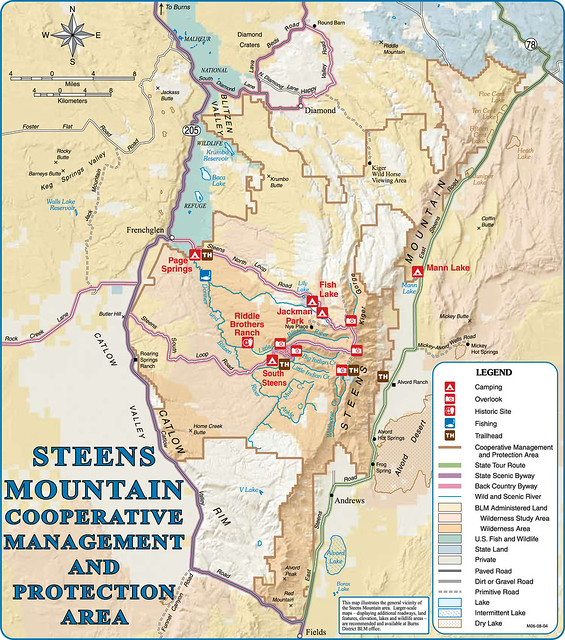 Steens Mountain Map In Burns Oregon  Flickr  Photo Sharing