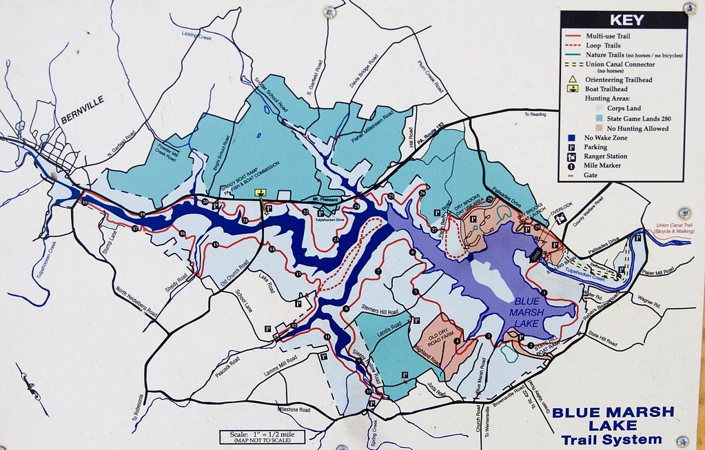 Blue Marsh Lake Map Blue Marsh Lake Map | Jeff Cushner | Flickr Blue Marsh Lake Map