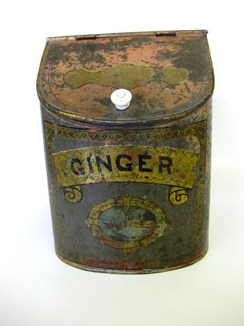 Vintage Ginger Kitchen Tin Storage Container Come visit S Flickr