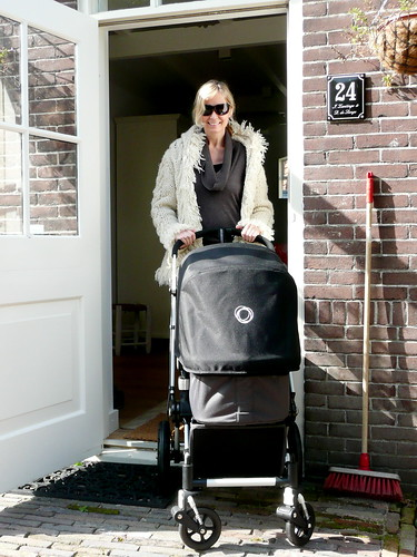 kick's first walk in the stroller | by the style files