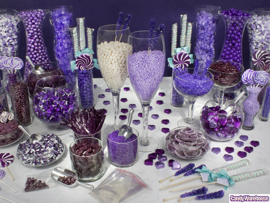 Purple Candy Buffet Featuring The Color Of Royalty This