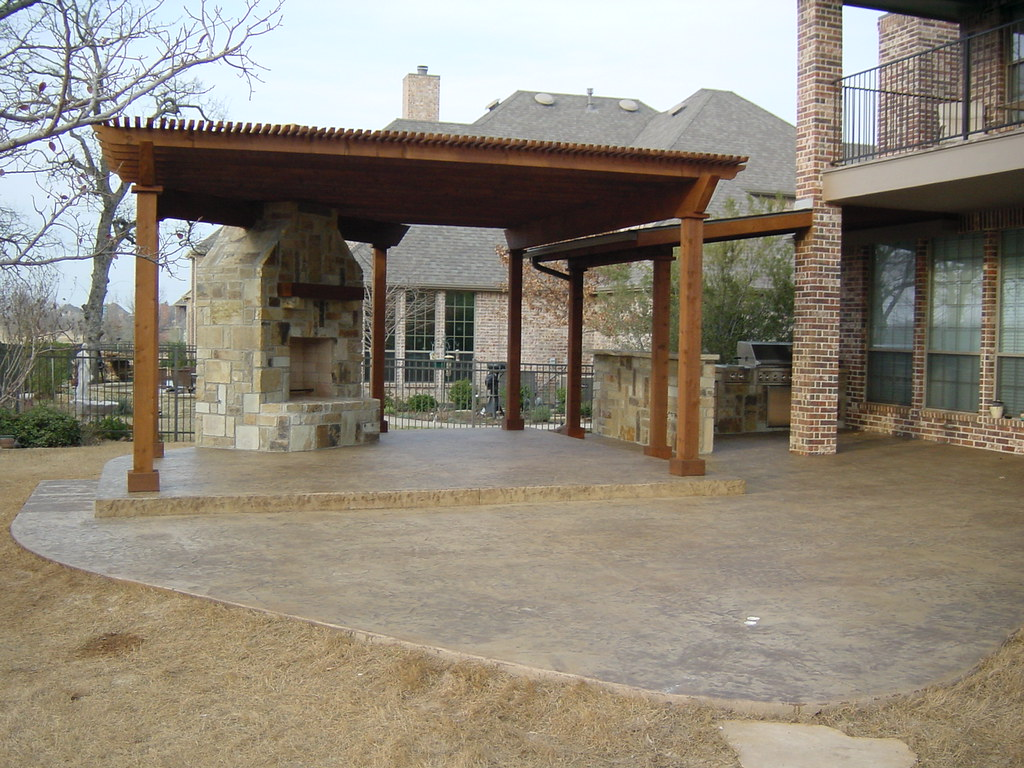 Outdoor Pavers Castle Hill : Outdoor living area pergola castle hills lewisville tex