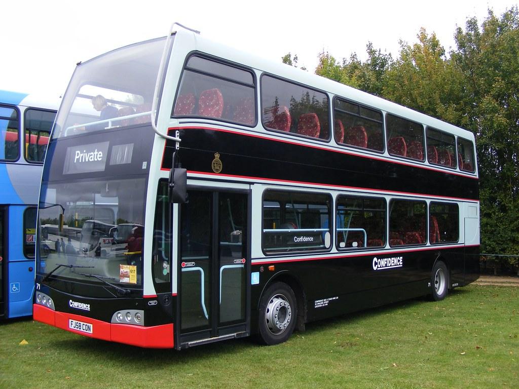 Confidence Bus Fj58con Volvo B9tl Optare Confidence Bus