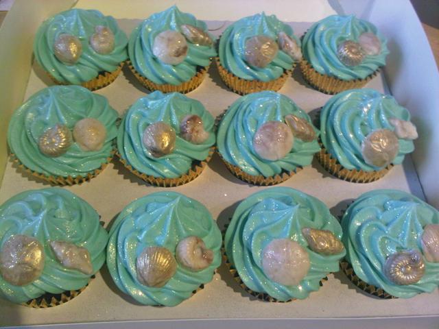 Beach Wedding Cupcakes Sea Shell Wedding Cupcakes For A
