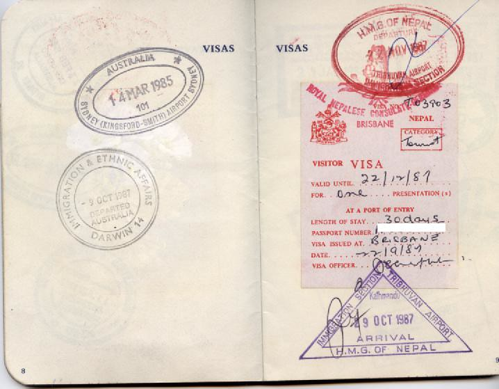 Nepal >> Passport Stamps | Nepal visa Nepal entry & exit Australia en… | Flickr