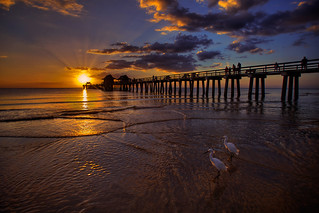 Naples Fishing Pier Sunset at Beach | by Captain Kimo
