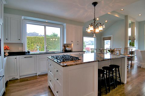 Sink Kitchen Island With Hood And Stools
