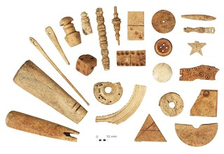 Bone-working debris and finished objects | by Wessex Archaeology