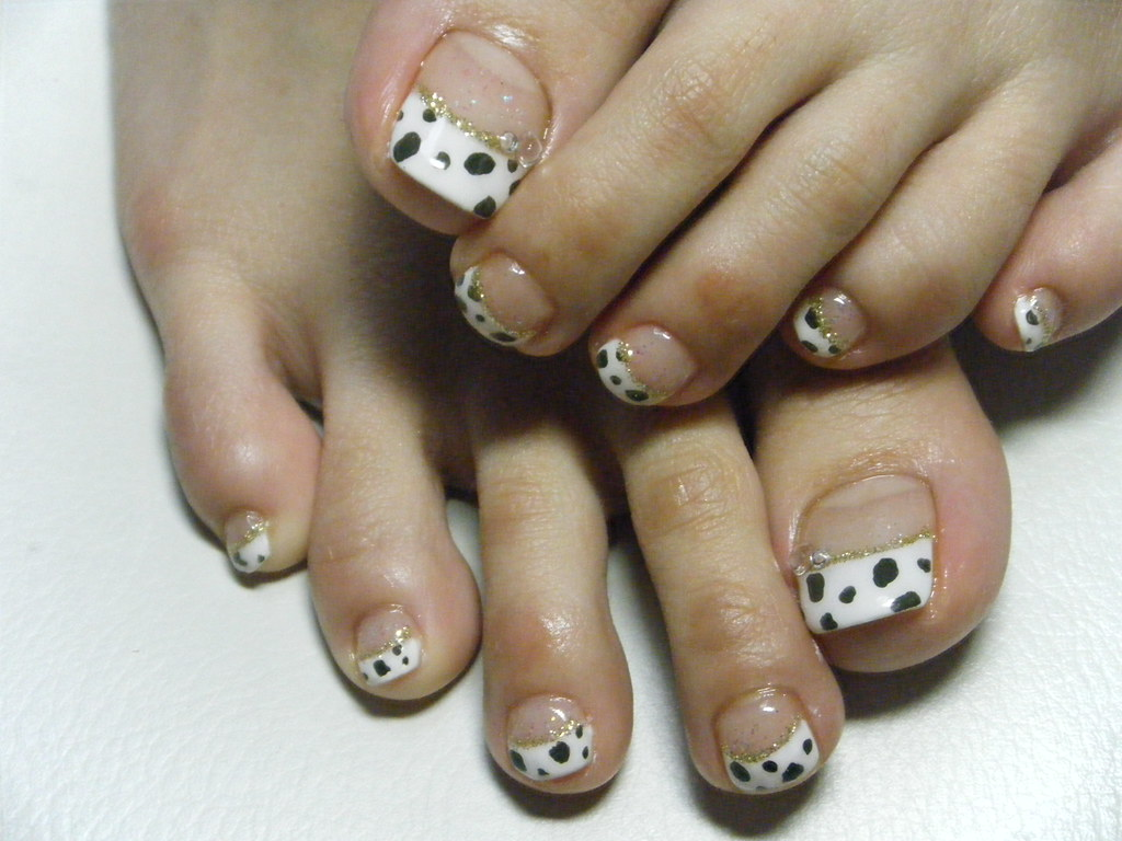 Gel Pedicure Animal Print French Negril Nail Art Flickr