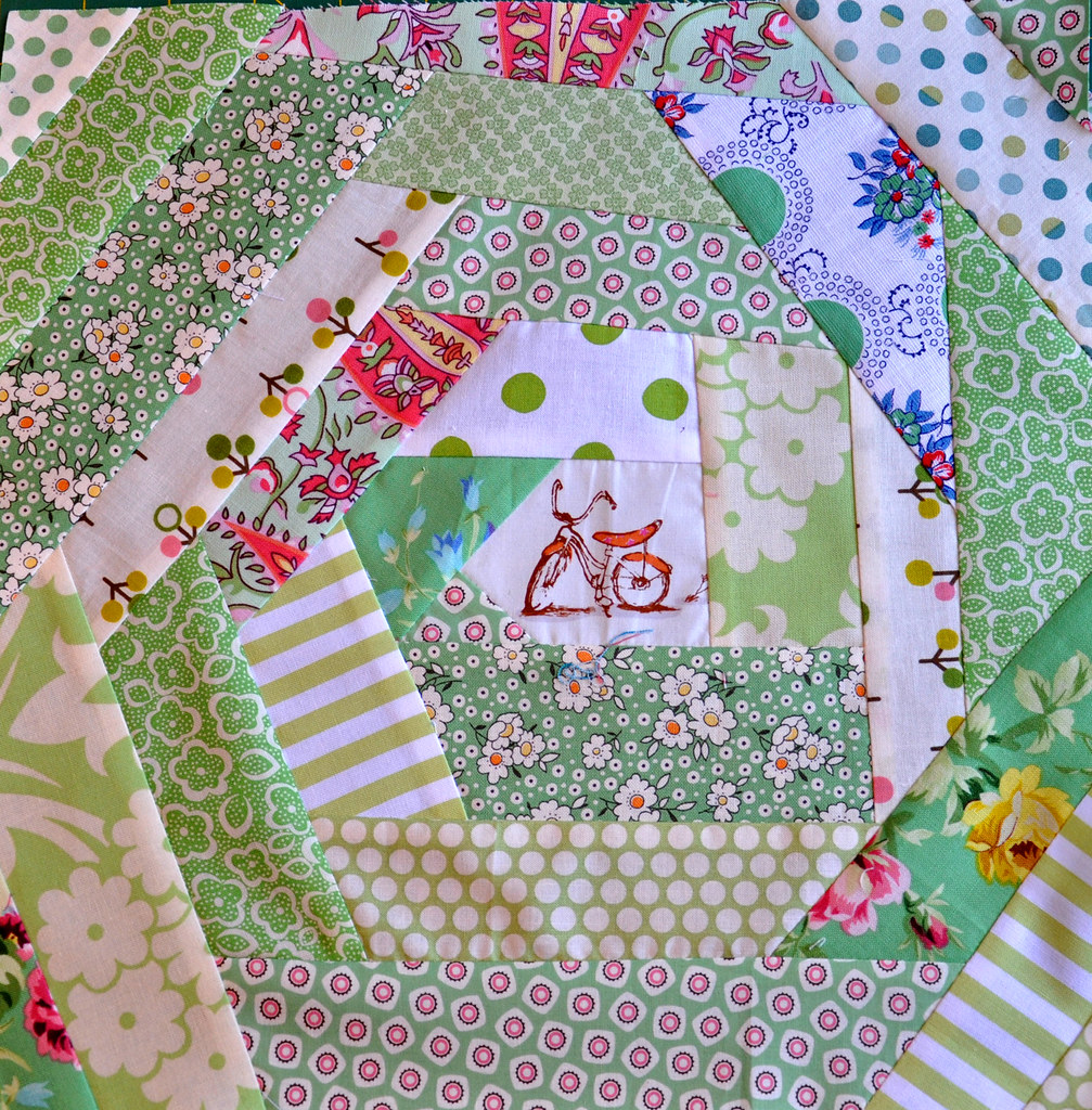 Andi S Block For Karlyn A Wonky Log Cabin Block For