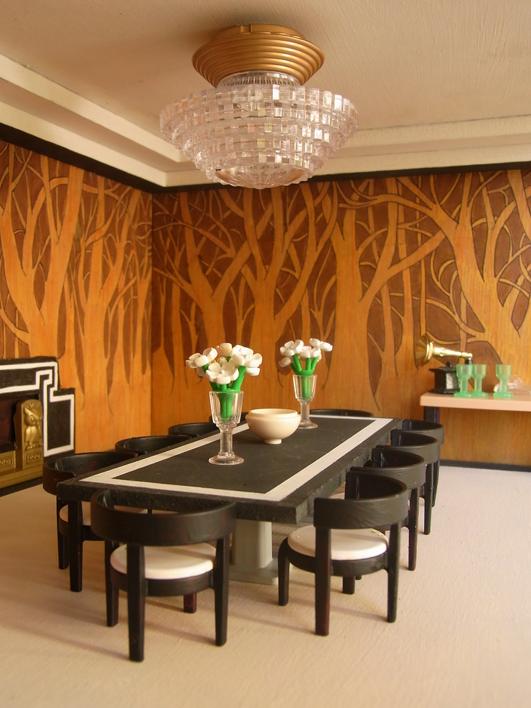 Art Deco dining room | Why is it only AFTER I\'ve taken the p… | Flickr