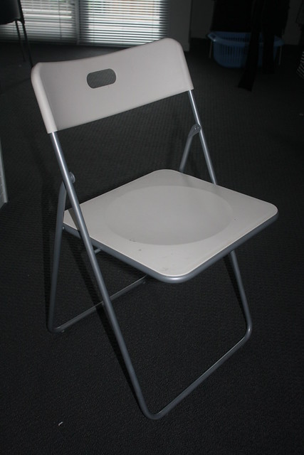 Ikea white folding chair $10
