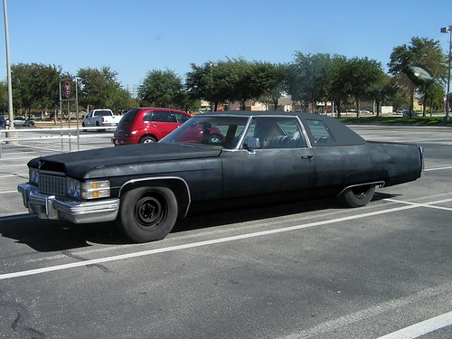 1974 murdered out cadillac coupe deville this will have. Black Bedroom Furniture Sets. Home Design Ideas