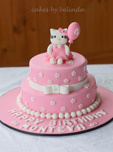 hello kitty 2 tier cake.  8