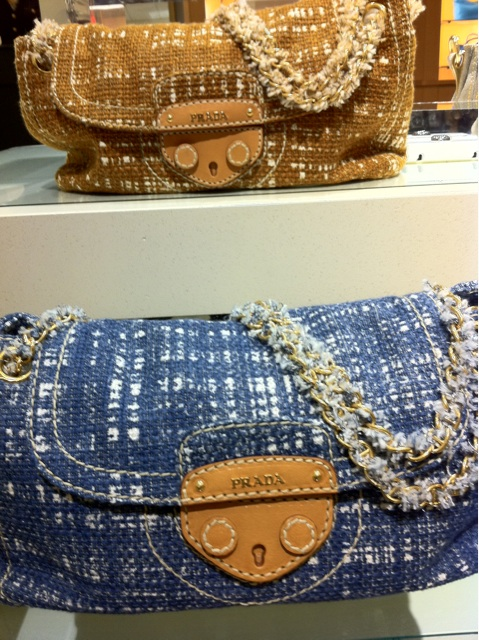 Prada Tela Tweed shoulder bags. Perfect for Spring with white ...