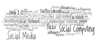 social media, social networking, social computing tag cloud (#5) | by daniel_iversen