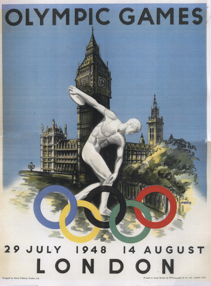 1948 olympic games poster