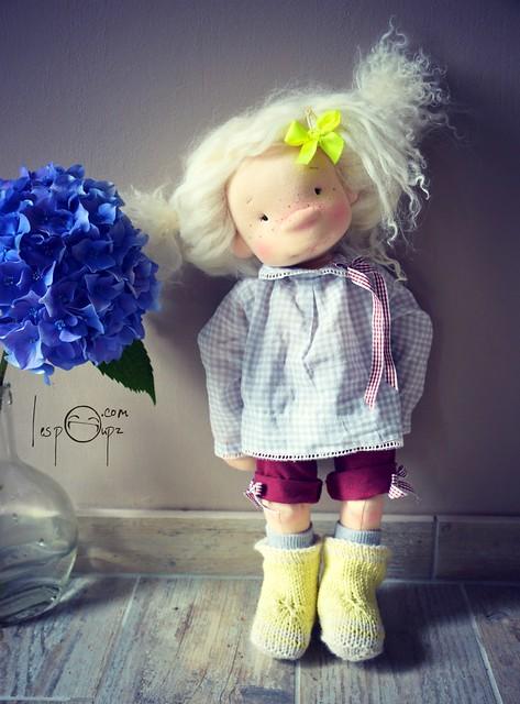 Emilie, 18 inch Natural Fiber Art Doll by LesPouPZ