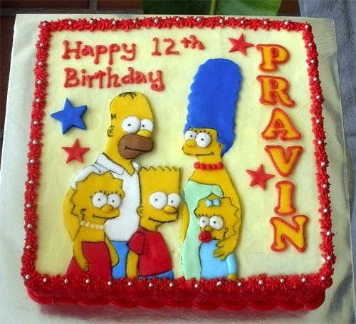 Simpsons Cake Pan