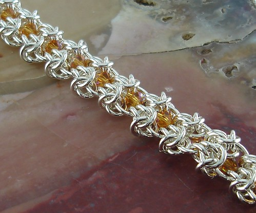 """Butterfly Wings"" Chainmaille Bracelet 