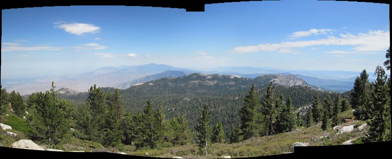 Panorama view south from Wellman Divide