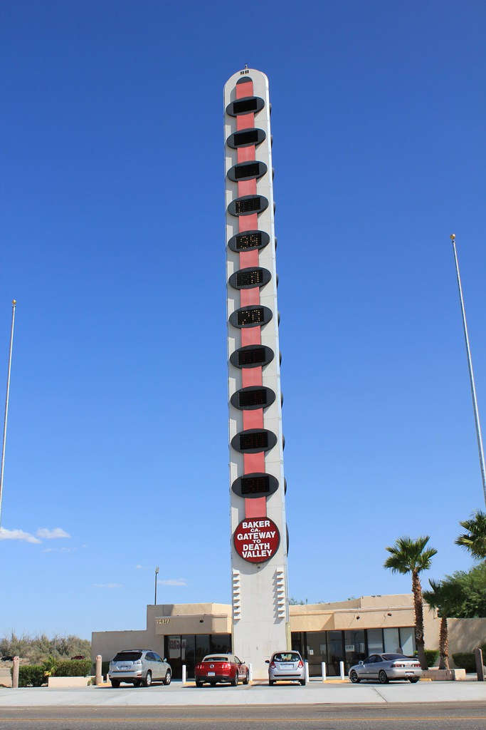 Giant Thermometer Baker Ca Will Herron A Businessman