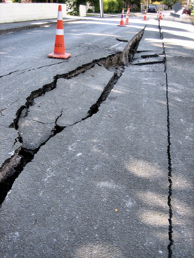 Earthquake damage - roads | Aftermath of September 4th ...