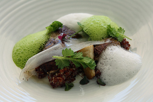 mushroom, quinoa, sea foam | by David Lebovitz