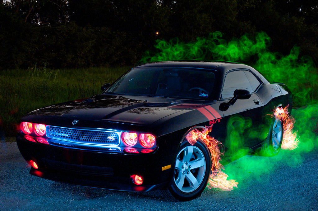 Lighting Painting A Car