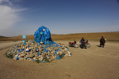 Mongolian Shrine & Motorcyclists | by goingslowly