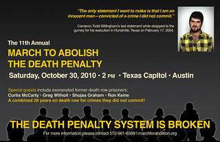 Postcard for 2010 March to Abolish the Death Penalty | by Texas Moratorium Network (TMN)