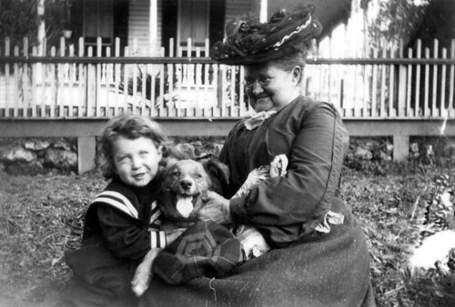 Boy, dog and woman enjoying each other's company: Tallahassee, Florida | by State Library and Archives of Florida