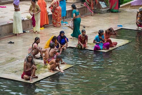 Woman In Monkey Temple, Miraculous Bath, Jaipur 10  Flickr-8052