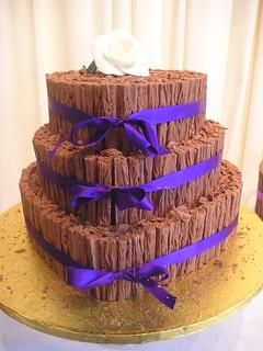 White Chocolate Flake Wedding Cake