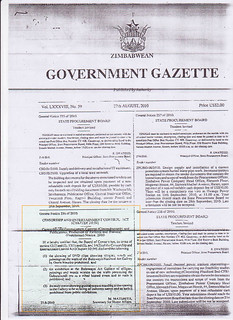 Government Gazette censorsing Owen Maseko's art | by Sokwanele - Zimbabwe