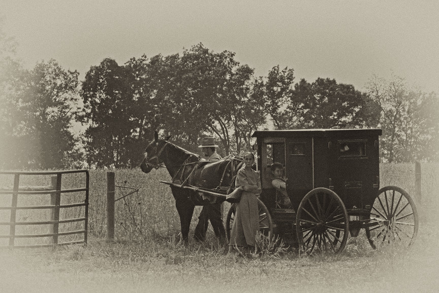 Amish Family Amish Family From Southern Indiana Image